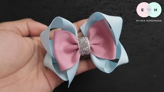 Laço De Fita 🎀 Ribbon Bow Tutorial #43 🎀 DIY by Elysia Handmade