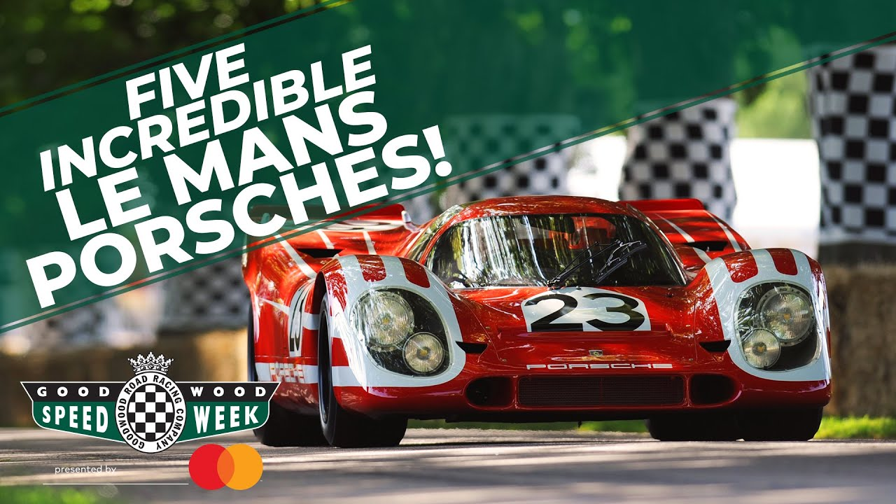 Video: Le Mans Porsches at Goodwood!