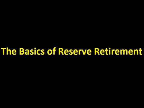 Episode 0003 - The Basics Of Reserve Retirement