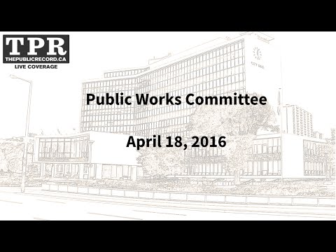 Hamilton City Council Public Works Committee for April 18, 2016