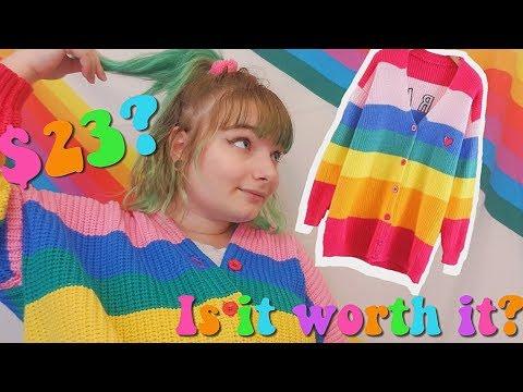 Real Vs Fake: Lazy Oaf Rainbow Cardigan!