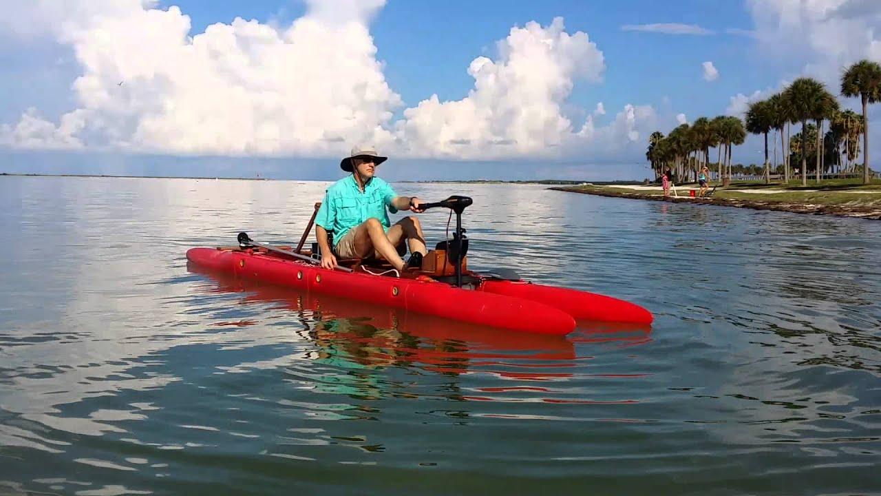 modular fishing kayak/pontoon boat
