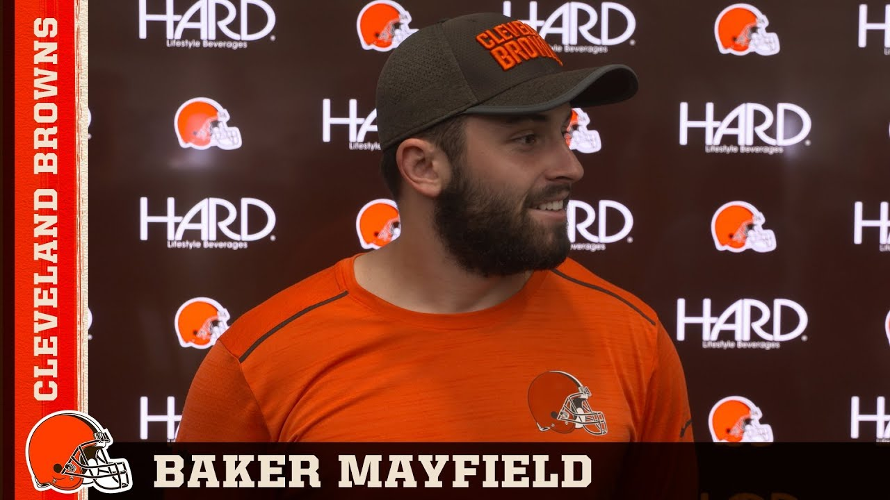 quality design 01438 d7c61 Baker Mayfield's Thoughts on LeBron James' Future in Cleveland | Browns  Press Conference
