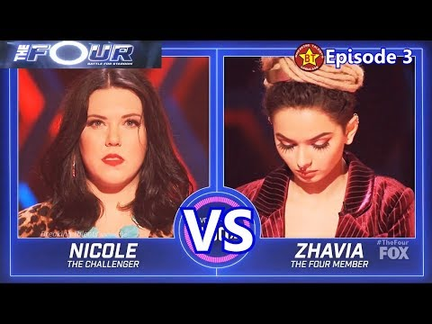 Nicole Boggs Vs A VERY SICK Zhavia EPIC SING OFF With Results &Comments The Four 2018 Episode 3