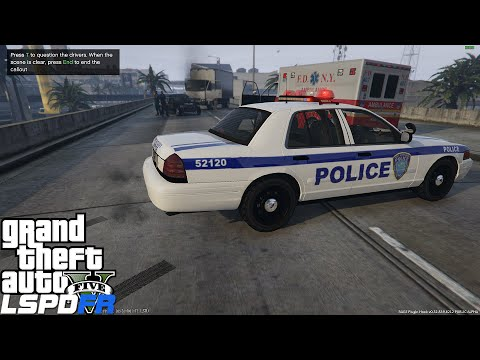 GTA 5 LSPDFR Police Mod Ep 71 | NY & NJ Port Authority Airport Patrol | Fatal MVA At The Airport