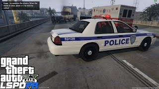 GTA 5 LSPDFR Police Mod Ep 71   NY & NJ Port Authority Airport Patrol   Fatal MVA At The Airport