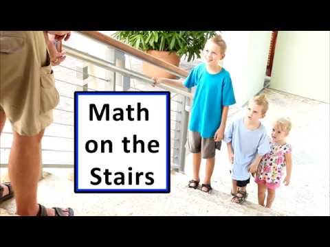 Math On The Stairs A Simple Flashcard Game Youtube