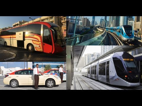 Dubai Taxi, Bus, Metro Tram and Monorail
