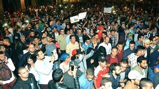وقفة تضامنية بالدار البيضاء مع محسن فكري شهيد مدينة الحسيمة فيديو: عبد النبي المساوي