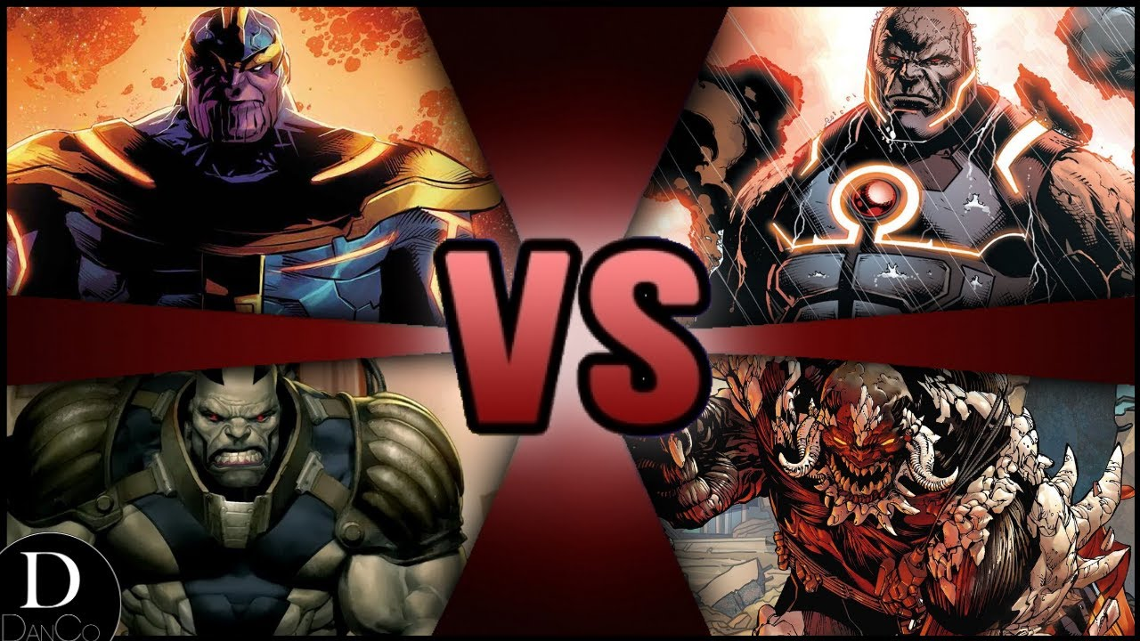 Thanos Vs Darkseid Vs Doomsday Vs Apocalypse Battle Arena Youtube