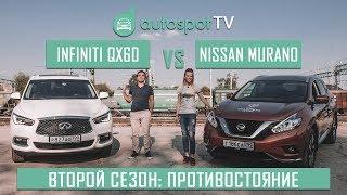 Nissan Murano VS Infiniti QX60 : Ищем 5 отличий в братских кроссоверах за разную цену