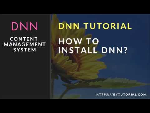 DNN Tutorial for Beginners Part 1 - Learn how to install DNN