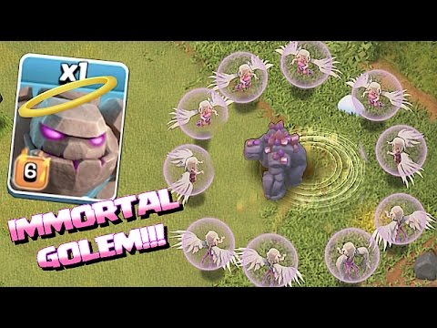 LETS BLOW UP LVL 6 GOLEMS!! 😀 IMMORTAL GOLEM TROLL🔸Clash of clans
