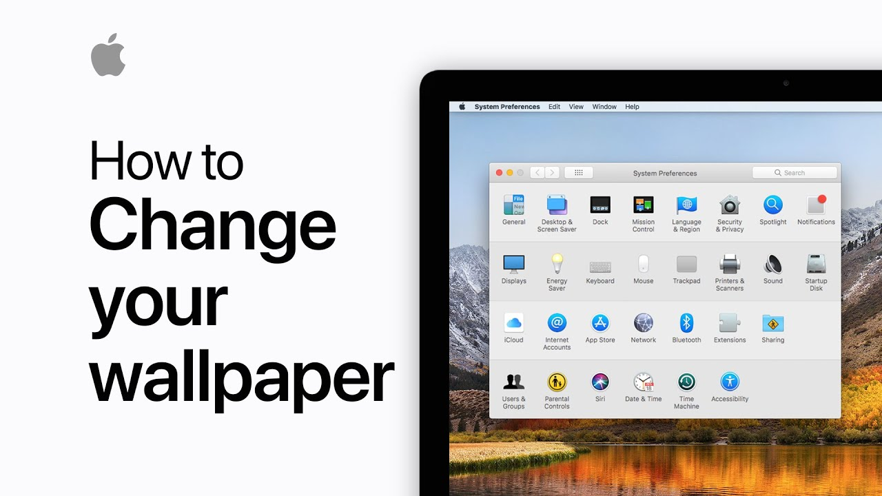How To Change The Wallpaper On Your Mac Apple Support Youtube