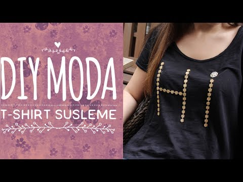 DIY MODA: Gold şeritli t-shirt