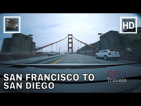 Driving Highways - U.S. Highway 101 and Interstate 5 - San Francisco to San Diego, California