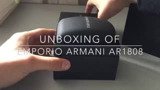 unboxing of emporio armani ar1808 dress mesh bracelet watch