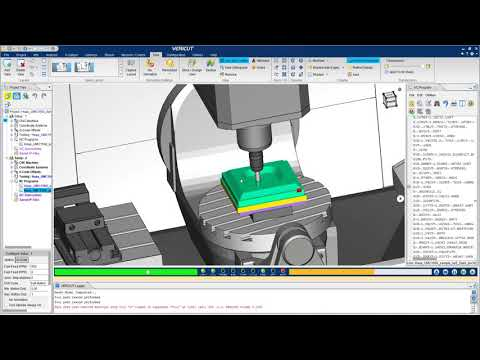 VERICUT CNC Simulation of a Haas UMC 1500