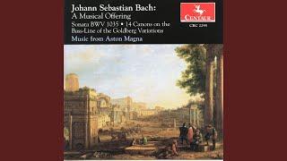 Musical Offering, BWV 1079: Canon 5. a 2: Canon circularis per Tonos