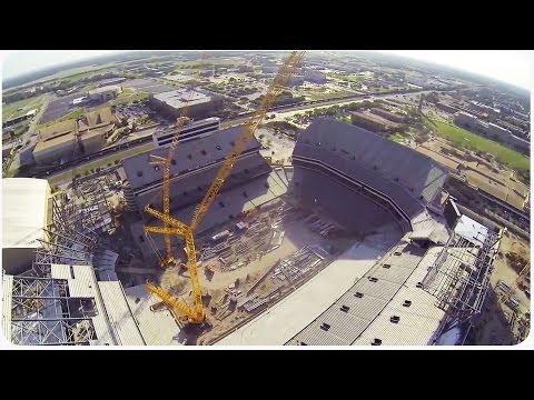 Kyle Field Renovations Progress Seen by Drone
