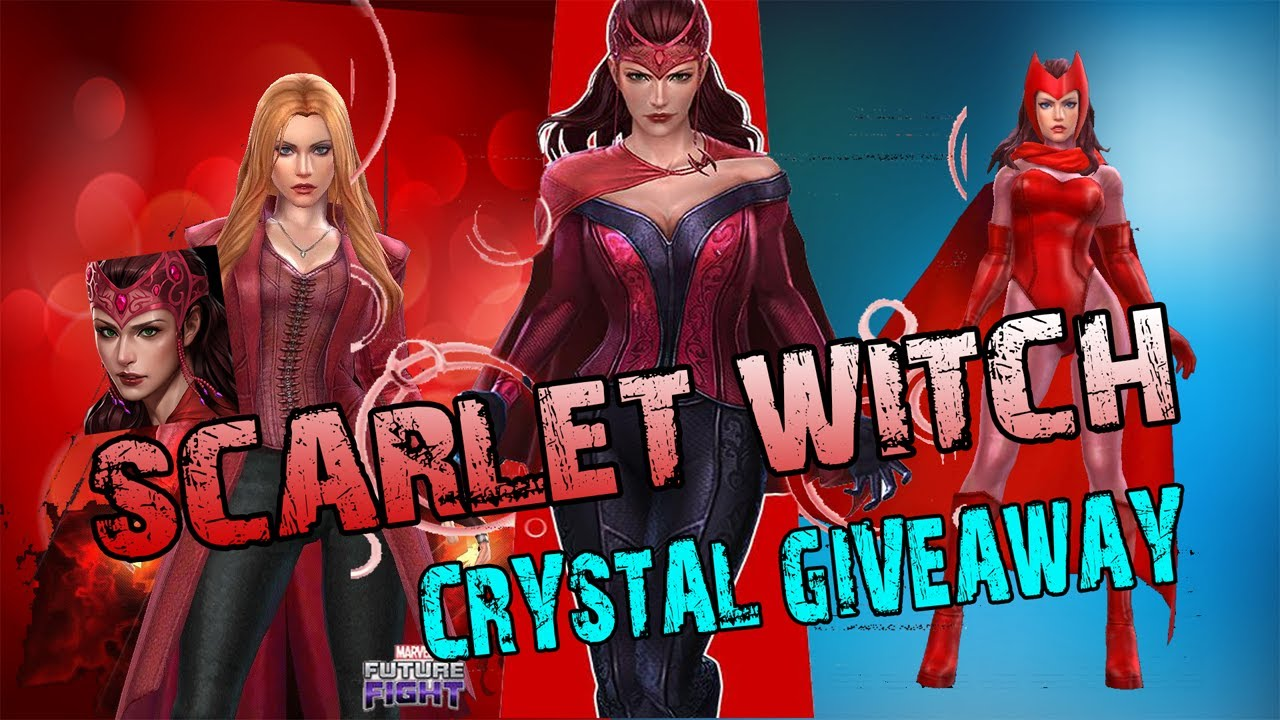 Scarlet Witch Best Build - All new All different Uniform Guide +Crystal Giveaway Marvel Future Fight