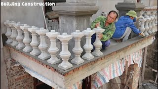 Prefabricated Handrail Installation Technique - How To Install Porch Balustrades Correctly
