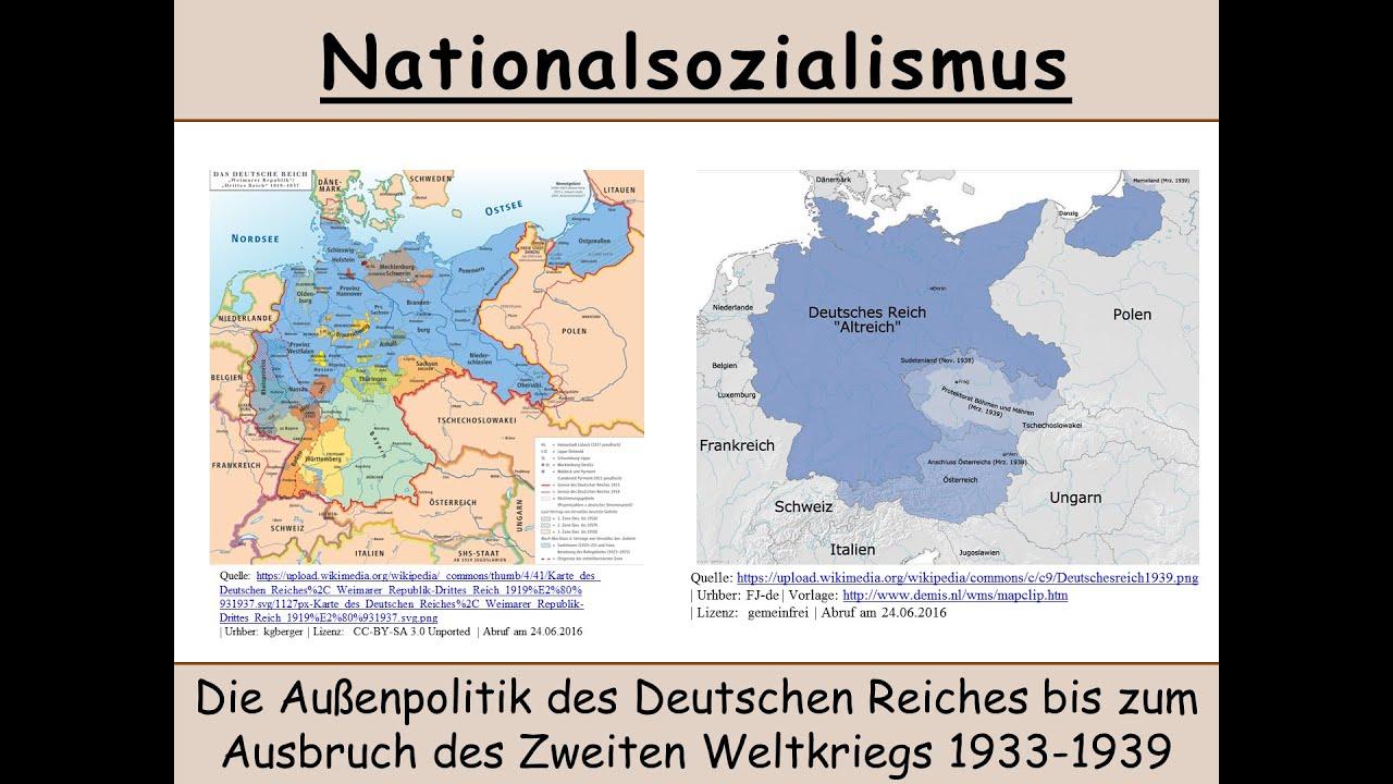 Die Außenpolitik Des Dritten Reichs 1933 1939 Nationalsozialismus