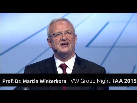 Martin Winterkorn, Keynote Rede auf der Volkswagen Group Night IAA 2015