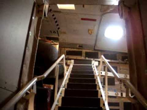 Main Deck Of A Boeing 747 400 Freighter Youtube