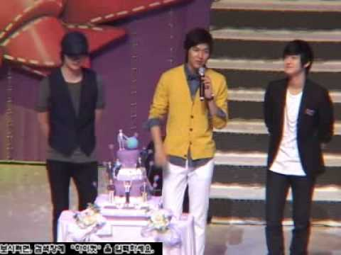 100625 HIGH CUT- Lee Min Ho with Jung Il Woo & Kim Bum at The Special Day With Minoz.flv