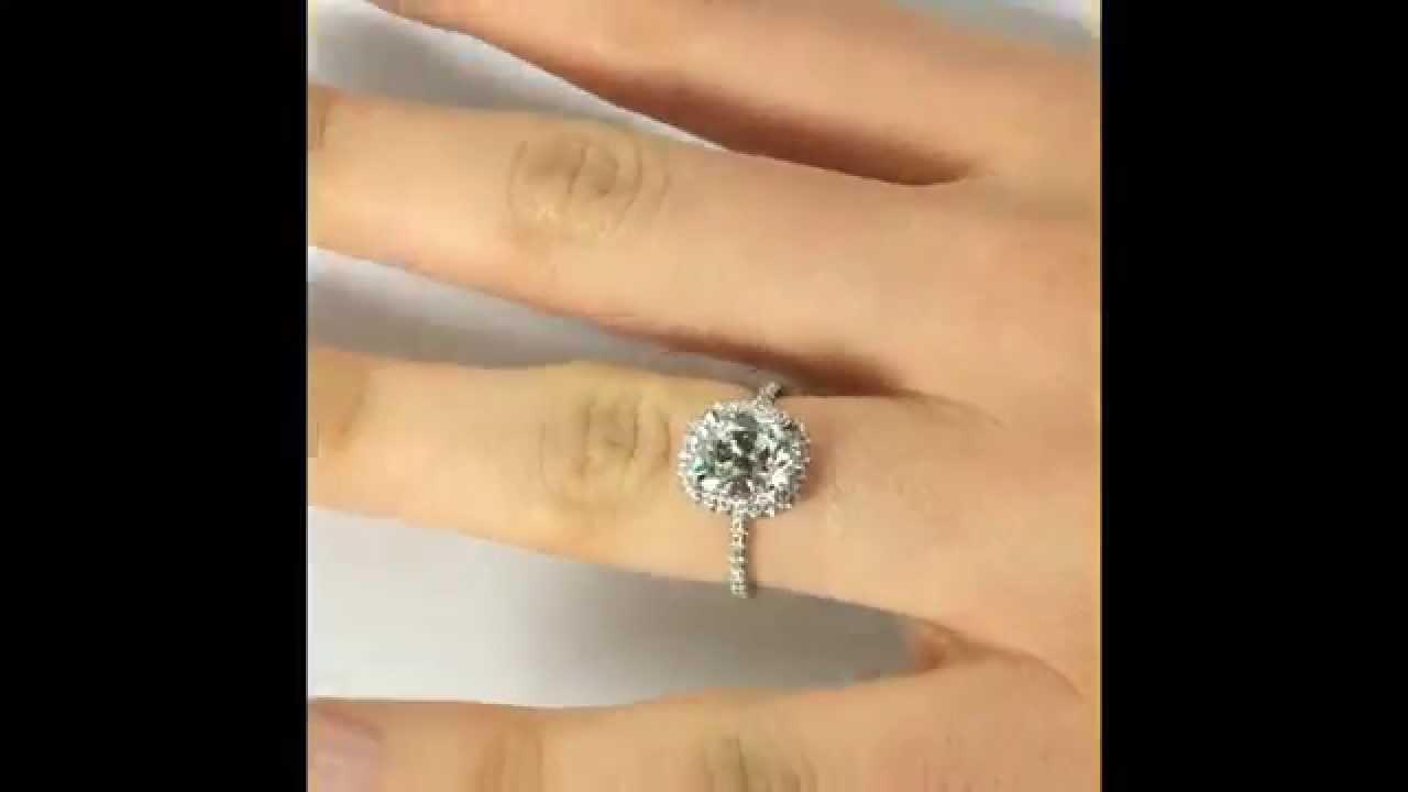 2 Carat Antique Cushion Cut Diamond Engagement Ring