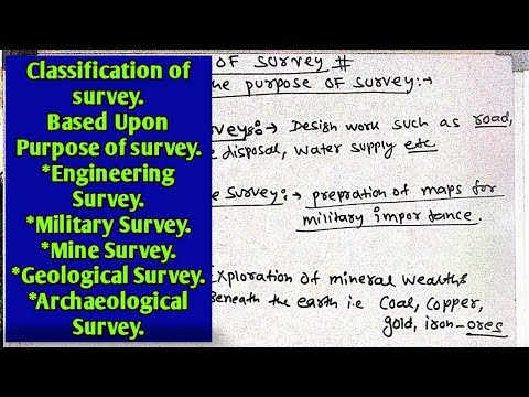 Classification of survey |Based upon purpose of survey | Engineering survey | Geological survey