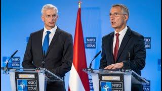 NATO Secretary General with the Prime Minister of 🇱🇻 Latvia, Krišjānis Kariņš, 02 OCT 2019