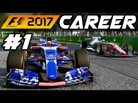 F1 2017 Career Mode Part 1: AUSTRALIA - IT BEGINS!
