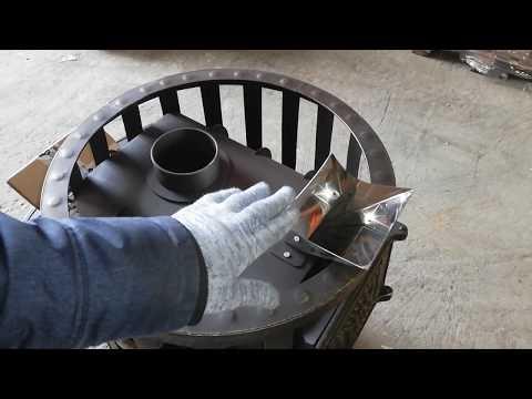 Чугунная печь для бани с закрытой каменкой Березка Воевода 20 ЗК