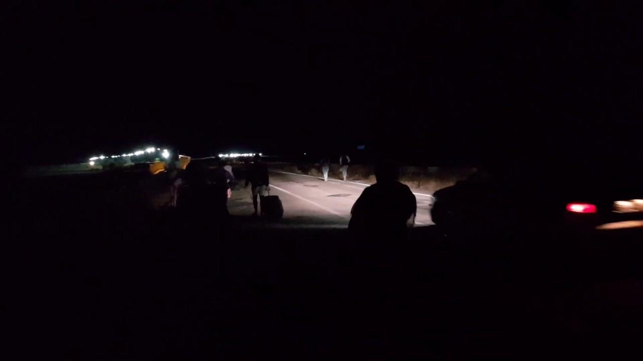 Ночной переход границы с Крымом, голодные лисы