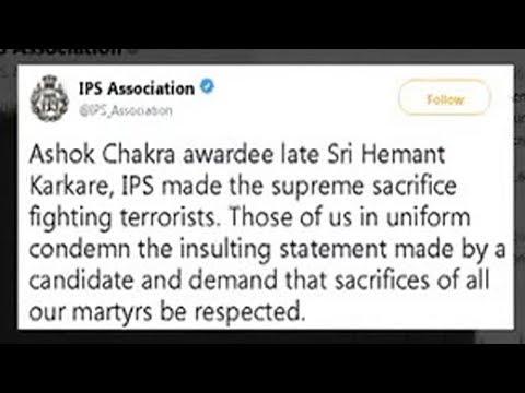 """Sadhvi Pragya's Remark On 26/11 Hero Hemant Karkare """"Insulting"""": IPS Body"""