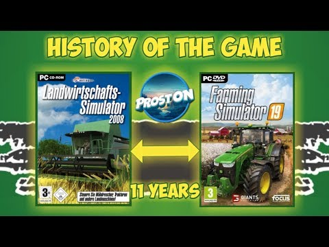 FARMING SIMULATOR 2008 - 2019 | HISTORY OF THE GAME | ALL TRAILERS | ИСТОРИЯ ИГРЫ + GAMEPLAY