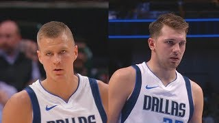 Kristaps Porzingis CRAZY Highlights With Luka Doncic! Thunder vs Mavericks 2019 NBA Preseason