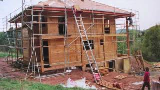 auto construction maison bio en bois massif des Vosges