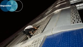 Spiderman Alain Robert climbs 75-storey twisted tower in Dubai