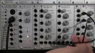 Ring Modulation of Basic Waveforms with Doepfer A114 Ring Mod