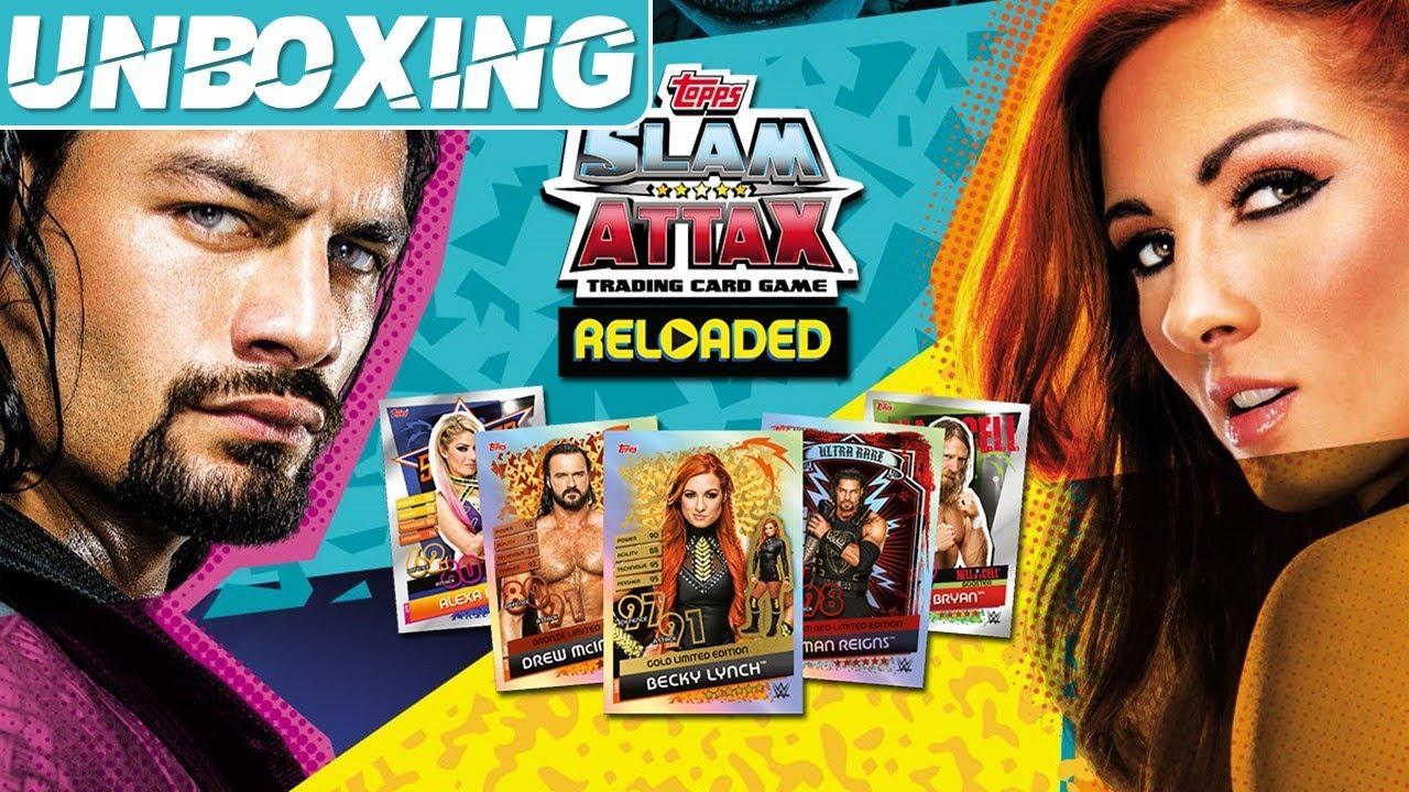 J'ouvre 20 PACKS WWE Slam Attax Reloaded!