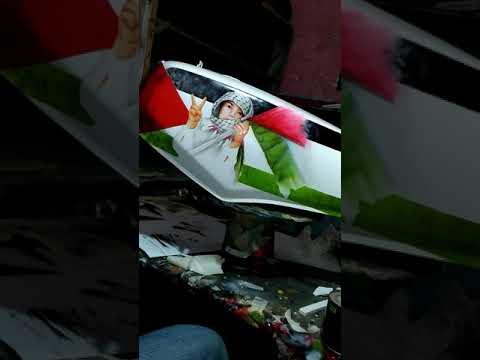 Airbrush Rx King Save Palestine Youtube