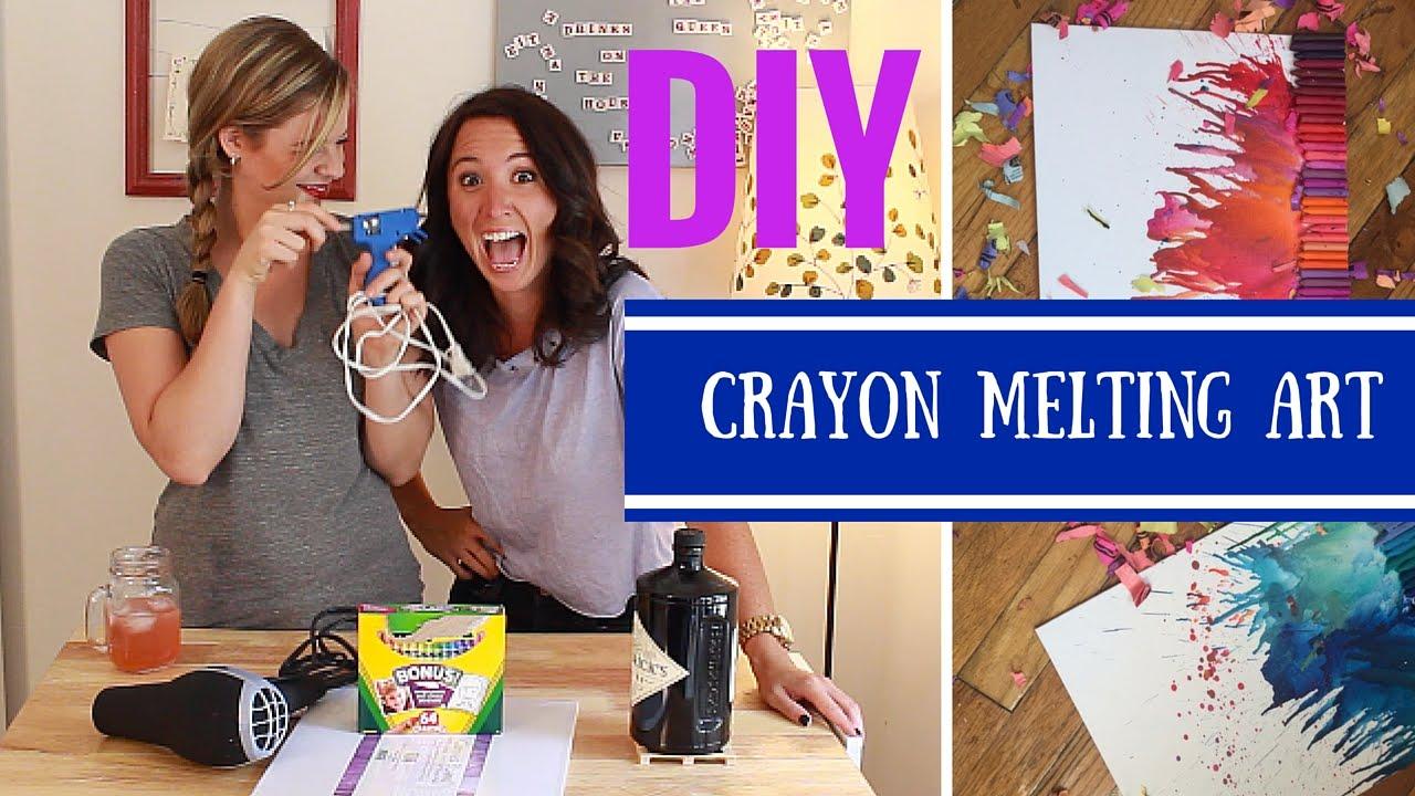 DIY Crayon Melting Art- Crafting Under The Influence ...