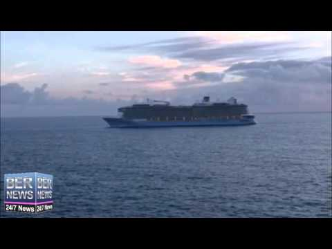Anthem of the Seas arriving in Bermuda, May 2 2016