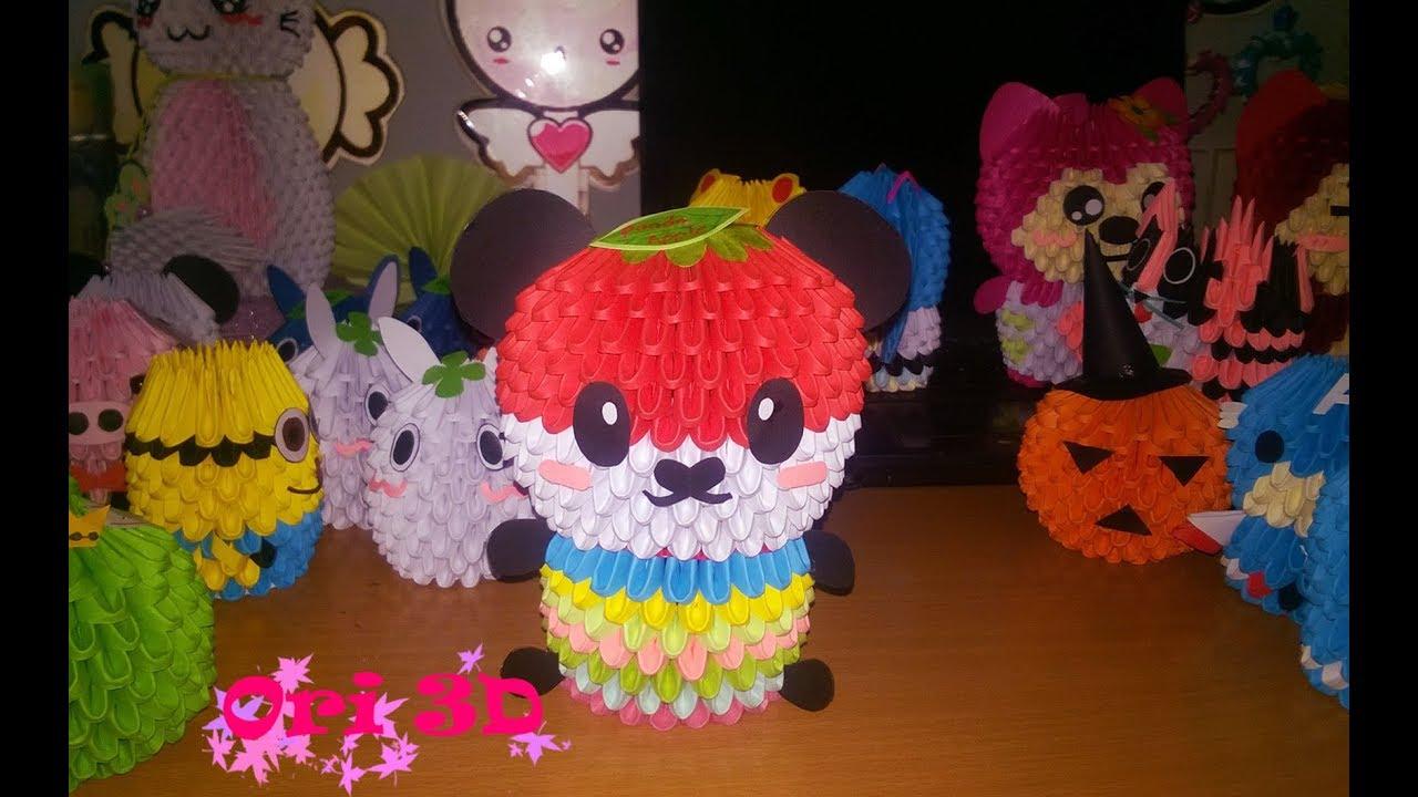 Panda Origami Instructions 3d T Swan Diagram Http Jewellia7777blogspotcom 2013 01 How To Make Apple So Cute