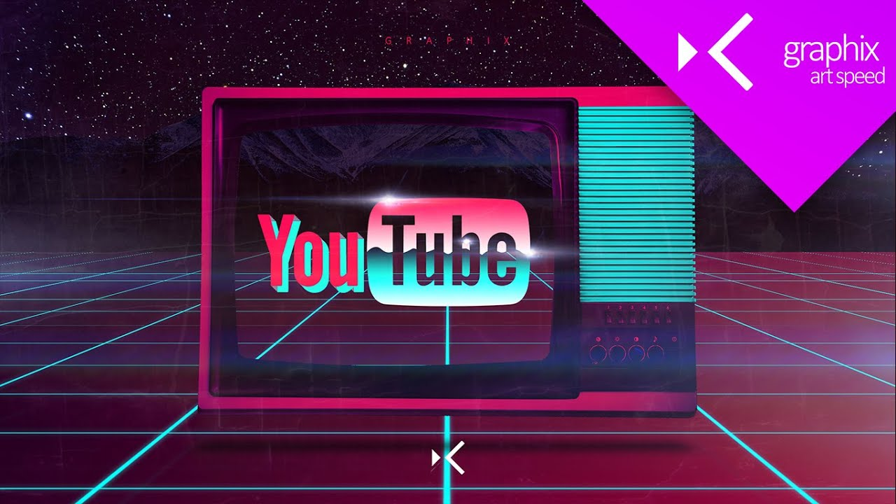 Youtube Logo 80s Based Wallpaper - Art Speed Graphic