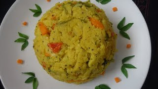 Rava Kichadi / Sooji Kichadi / Semolina Kichadi - Breakfast Recipes