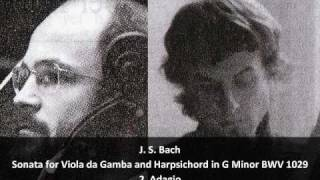 J. S. Bach - Sonata for Viola da Gamba and Harpsichord in G Minor BWV 1029 - 2.Adagio (2/3)